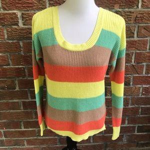 NWOT MINE striped sweater sz L